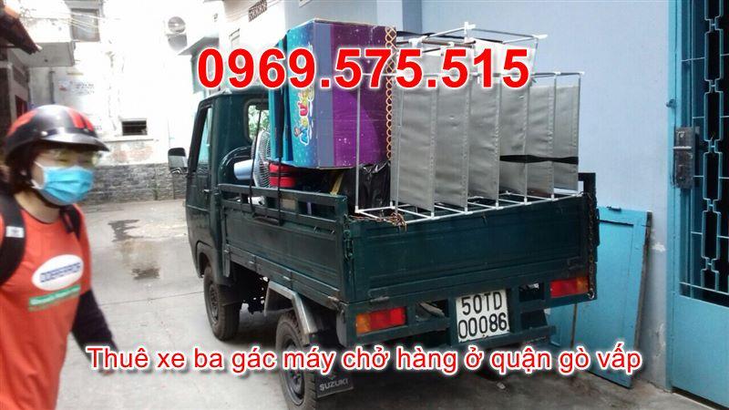 thuê xe ba gác máy chở hàng ở quận gò vấp