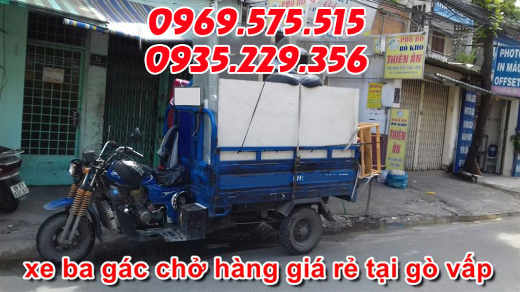 xe ba gác chở hàng giá rẻ Gò Vấp